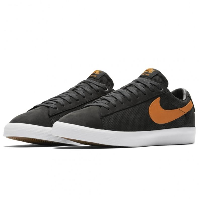 new style 06591 e4c47 Nike SB Zoom Blazer Low GT 'Cat's Paw' QS (Black/Vivid Orange-White)