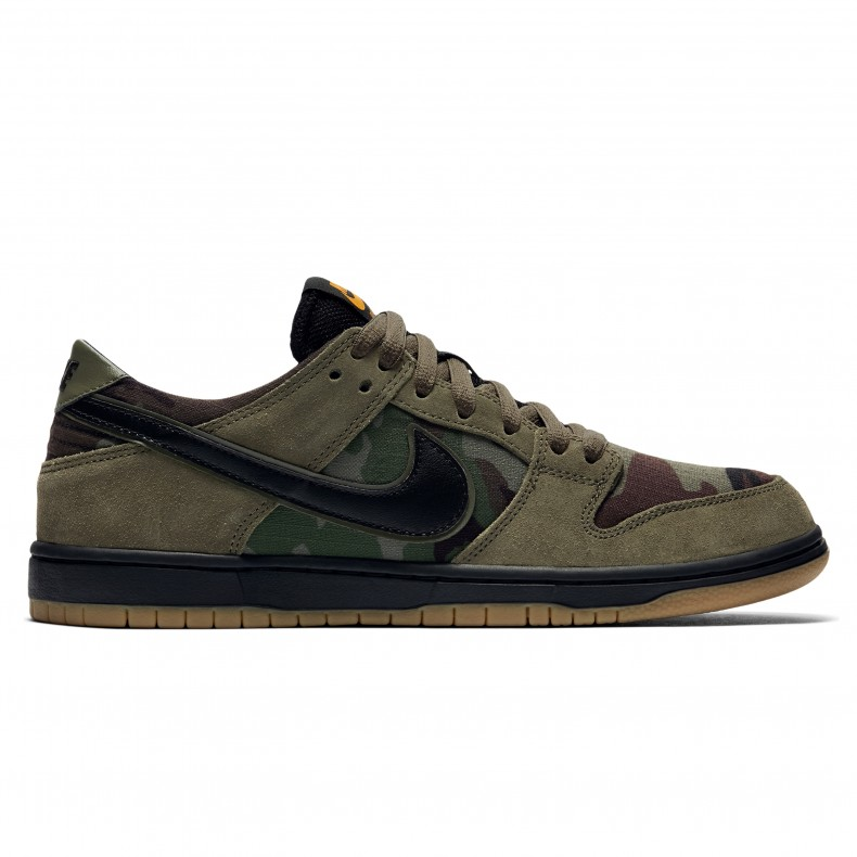 huge selection of e498d 14618 Nike SB Zoom Dunk Low Pro (Medium Olive Black-Gum Light Brown) - Consortium.