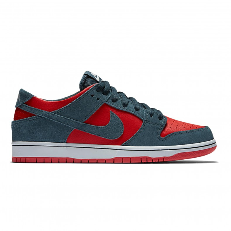 Nike SB Zoom Dunk Low Pro 'Reverse Shark' (Nightshade/Nightshade-Chile Red) - Consortium.