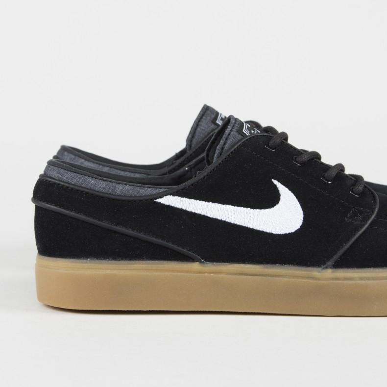 f3c7452c76be Nike SB Zoom Stefan Janoski (Black White-Gum Light Brown) - Consortium.