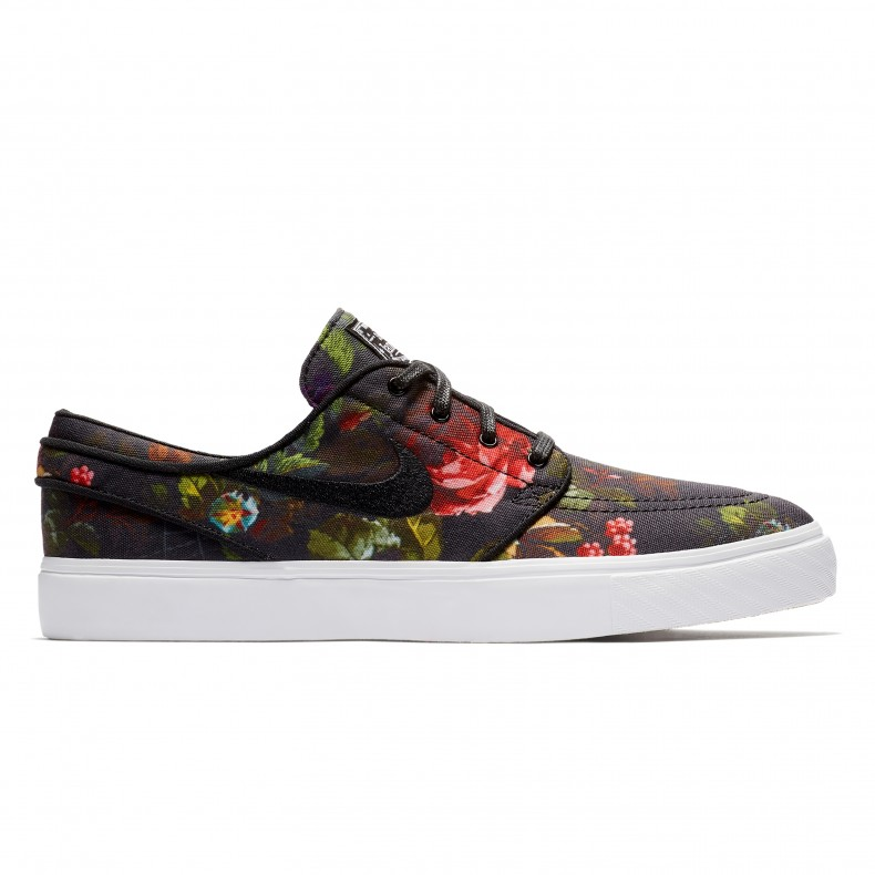 Nike SB Zoom Stefan Janoski CNVS  Floral  (Multi-Colour Black-White-Gum  Light Brown) - 615957-900 - Consortium. 634ab4d6b