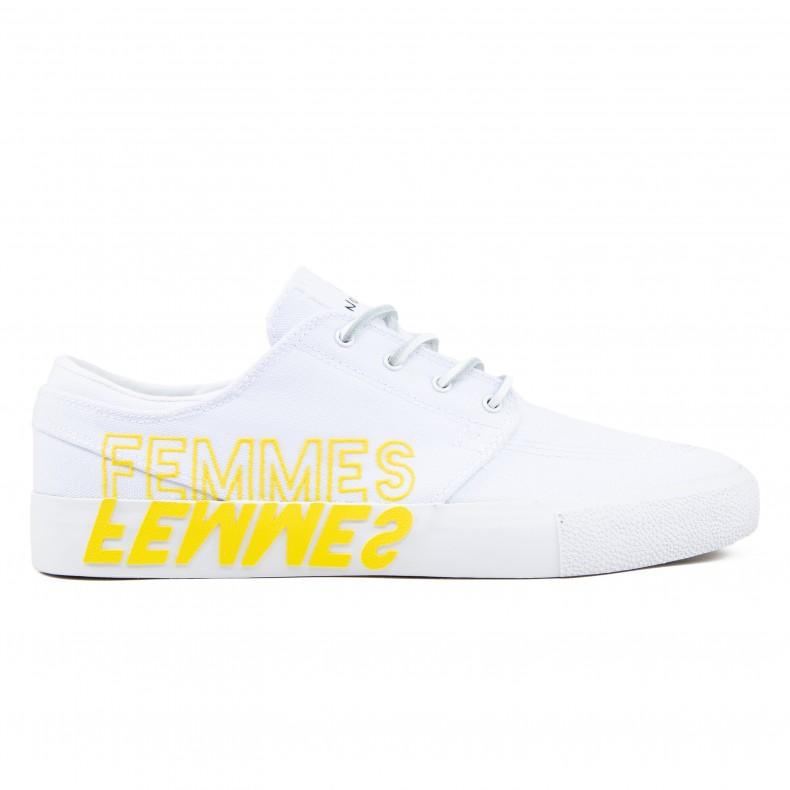 nouvelle arrivee 1cfd0 a2d3e Nike SB Zoom Stefan Janoski RM 'Violent Femmes' QS (White/Clear White-Tour  Yellow)