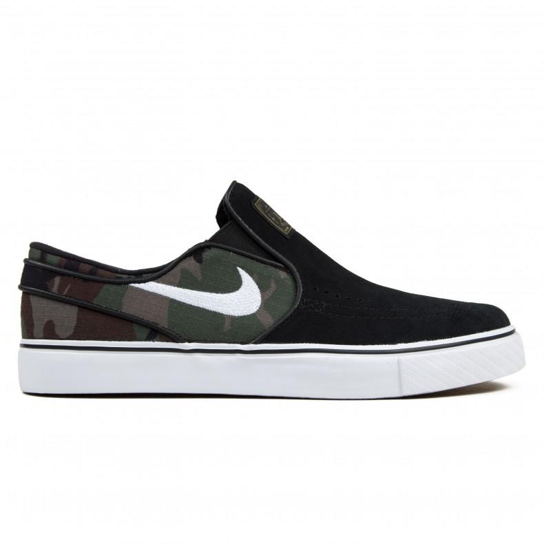 new styles dc0b2 e85ed Nike SB Zoom Stefan Janoski Slip (Black White-Multi-Colour) - Consortium.