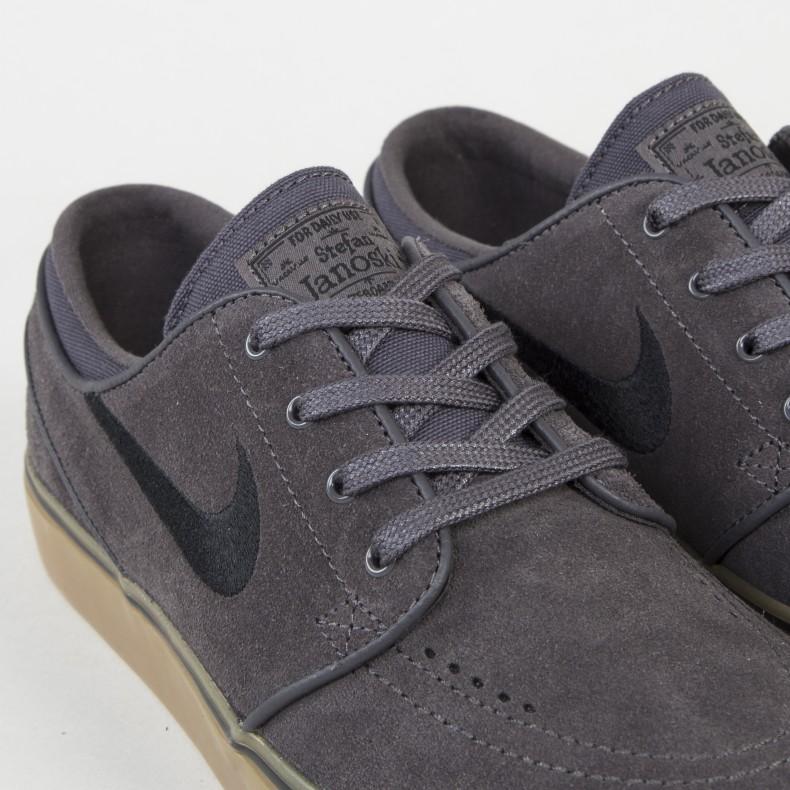 1c75b7e1027 Nike SB Zoom Stefan Janoski Thunder Grey Black Gum Light Brown ...