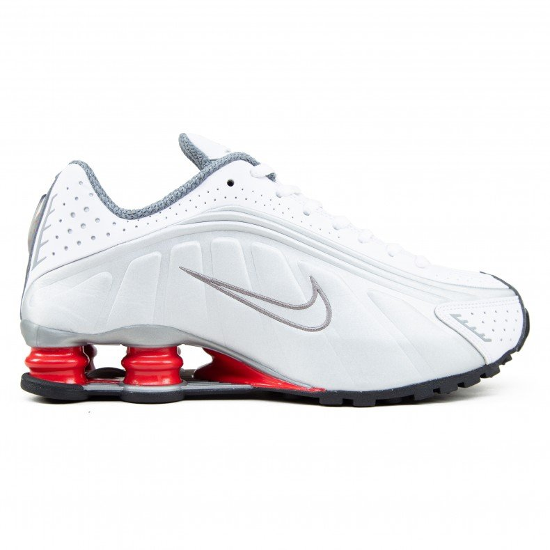 size 40 c64af 23a1a Nike Shox R4 'Comet Red' (White/Metallic Silver-Comet Red-Black)