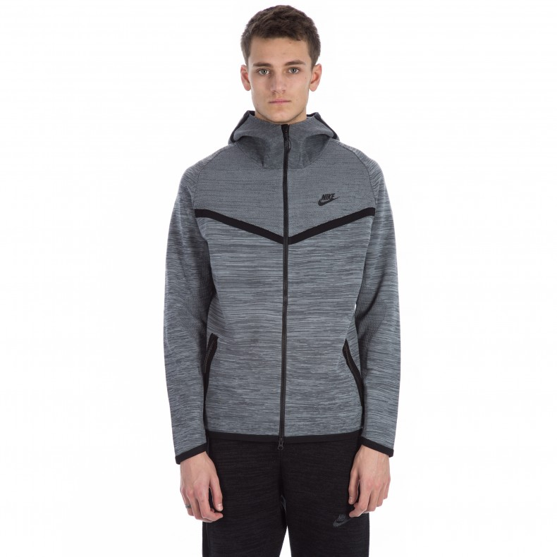 Nike Tech Knit Windrunner Jacket (Cool GreyDark GreyBlack