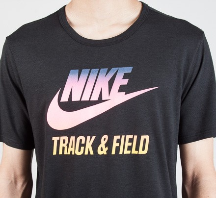 330357a85 Nike Track & Field Gradient Graphic T-Shirt (Black/Multi Colour ...