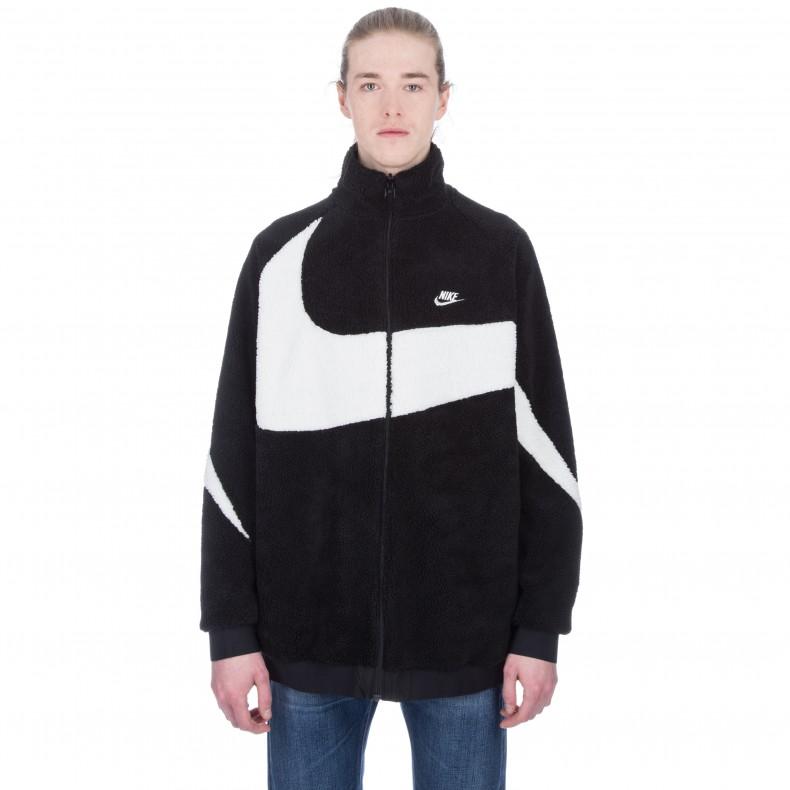 94e04aface1b Nike Vaporwave Reversible Swoosh Fleece Full Zip Jacket (Black Sail Sail) -  Consortium