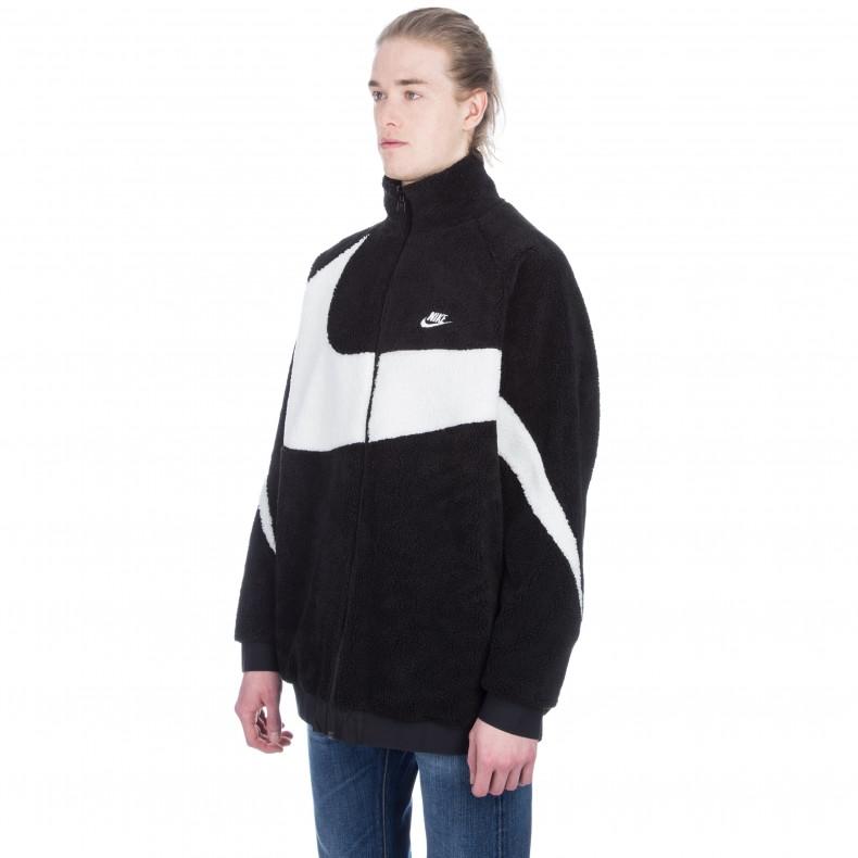 1649c758213d Nike Vaporwave Reversible Swoosh Fleece Full Zip Jacket (Black Sail ...