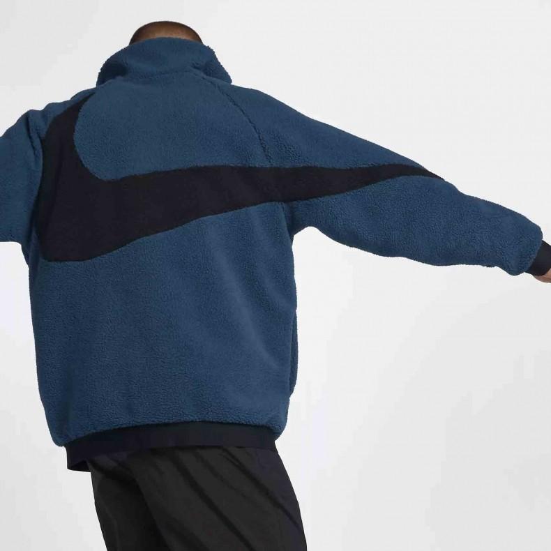 27a5d24d61c9 Nike Vaporwave Reversible Swoosh Fleece Full Zip Jacket (Force Blue ...