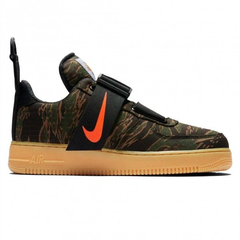 302e28f86baa5 Nike x Carhartt WIP Air Force 1 Utility Low Premium (Camo Green/Total Orange-Gum  Light Brown) - AV4112-300 - Consortium.