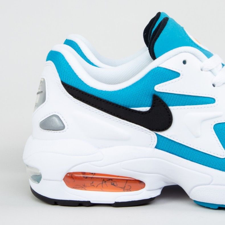 sports shoes 4c1b9 8def4 Nike Air Max2 Light OG  Blue Lagoon . (White Black-Blue Lagoon-Laser Orange)