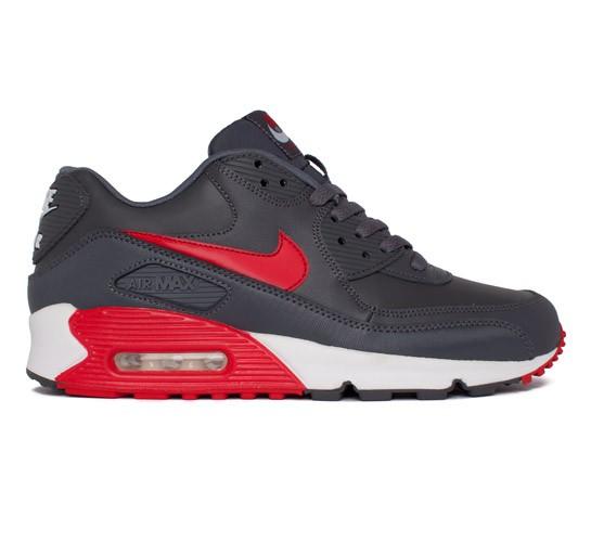a977b2db72899 Nike Air Max 90 Essential (Dark Grey/University Red-White-White) -  Consortium.