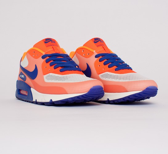 Nike Air Max 90 Hyperfuse PRM Sail, Blue & Bright Citrus | END.