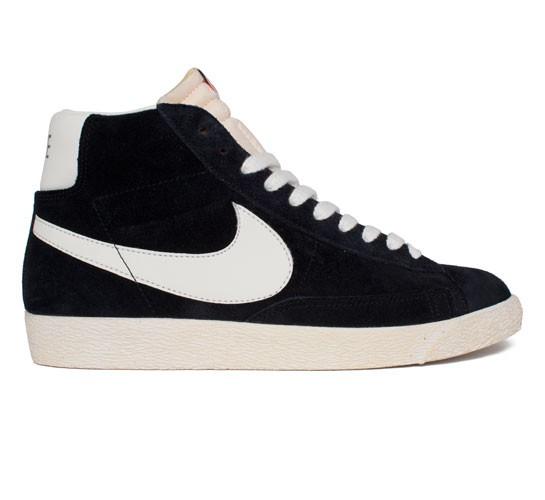 low priced eedd1 3100b Nike Blazer Mid Premium Vintage Suede (Black Sail) - Consortium.