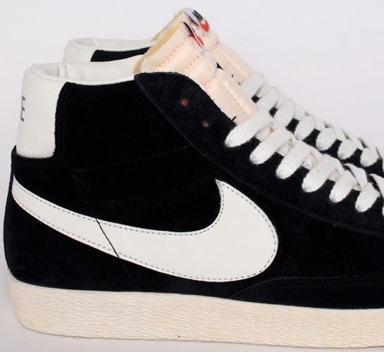 9b14287170b3b Nike Blazer Mid Premium Vintage Suede (Black/Sail) - Consortium.