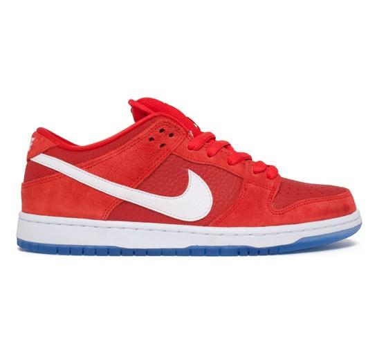 81c1678e050e Nike SB Dunk Low Pro (Challenge Red White-University Blue) - Consortium.