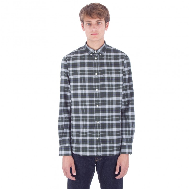 6ac627f3f5 Norse Projects Anton Check Shirt (Moss) - Consortium.