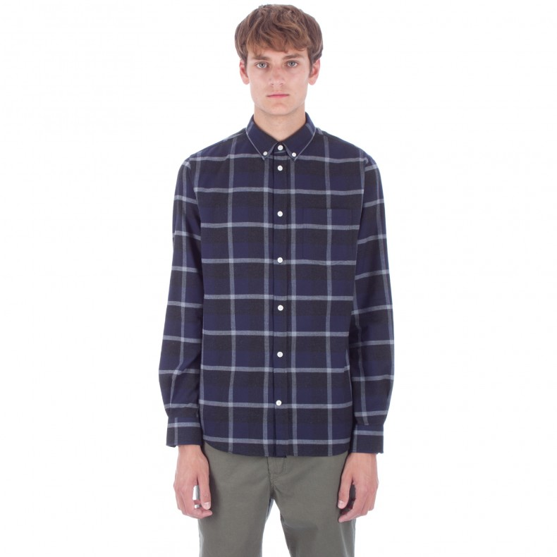 917e0bdd67 Norse Projects Anton Check Shirt (Navy/Charcoal) - Consortium.