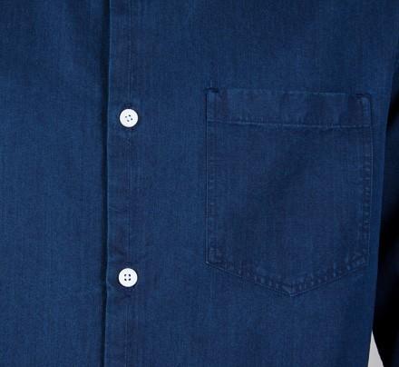 2b1a6d612e4 Norse Projects Anton Denim Long Sleeve Shirt (Dark Indigo) - Consortium.