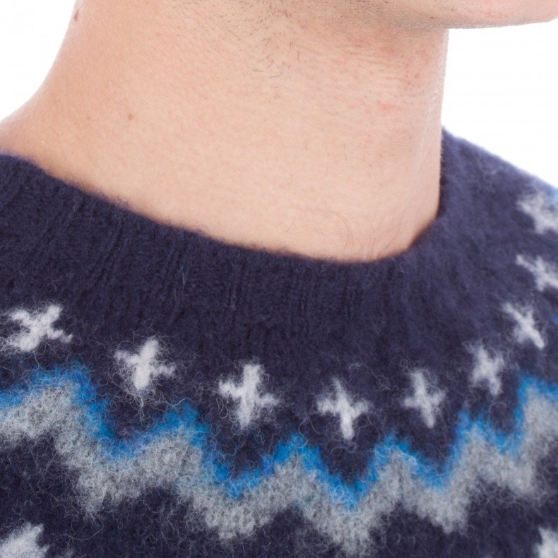 Norse Projects Birnir Fairisle Jumper (Navy) - Consortium.