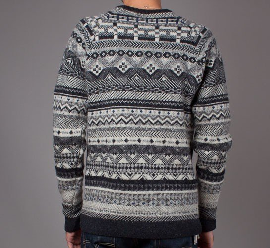 Norse Projects Birnir Fairisle Wool Knitted Sweater (Gunmetal Grey ...