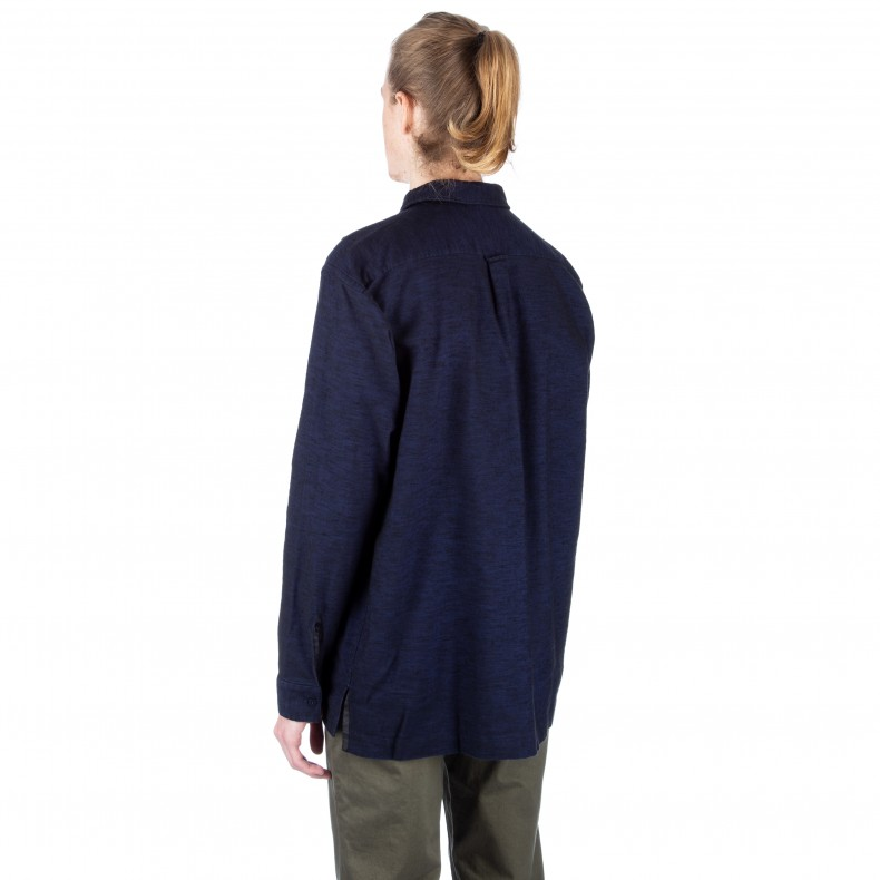 f6a35a585ff Norse Projects Nohr Tonal Shirt (Navy) - Consortium.