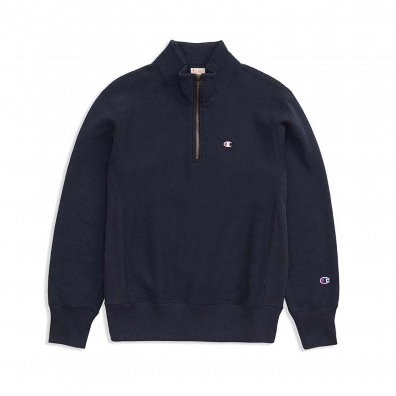 Navy Champion Reverse Weave Half Zip Sweatshirt