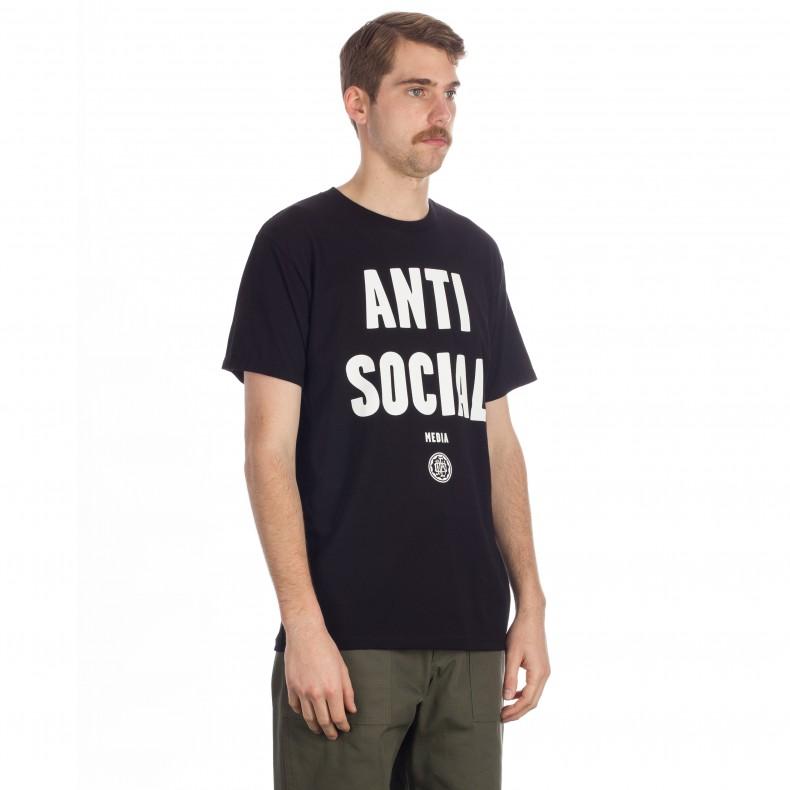 f9f61b3fa Obey Anti-Social Media T-Shirt (Black) - Consortium.
