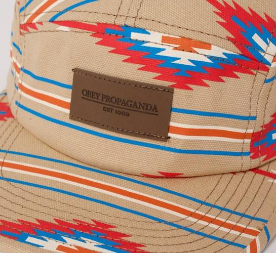 b4a8b1ac25e Obey Native 5 Panel Cap (Khaki Navajo) - Consortium.