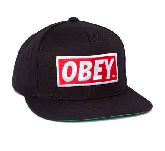 43e432ad2d34c Obey Original Snapback Cap (Black) - Consortium.