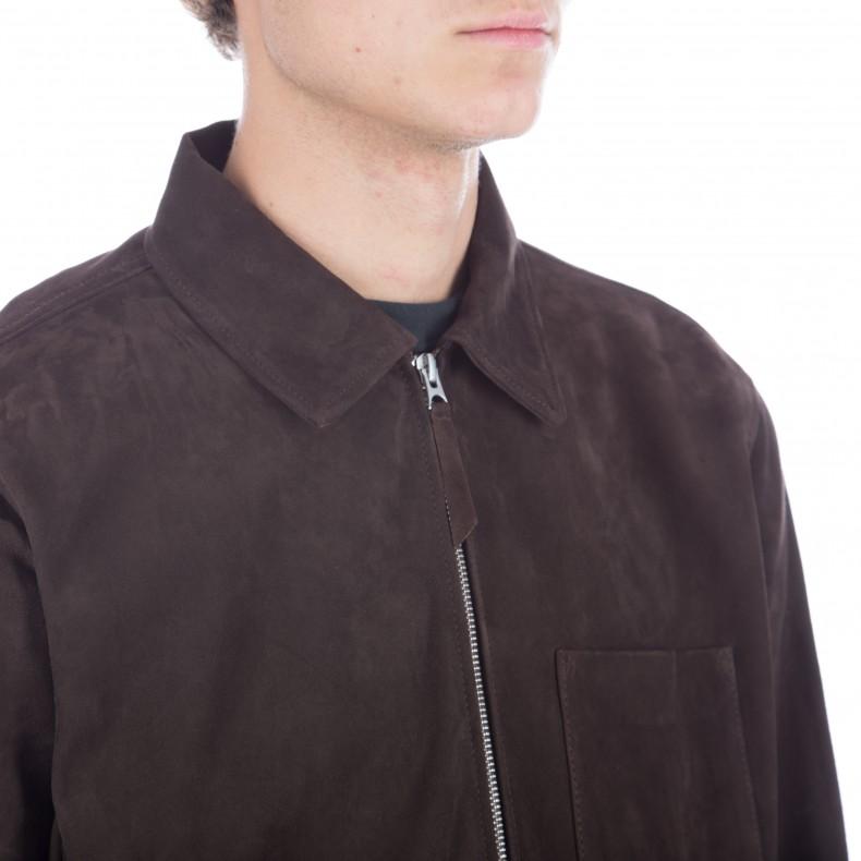 374438b1f900 Our Legacy Suede Zip Shirt (Dark Mudd) - Consortium.