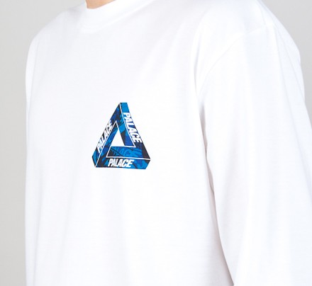 3f7e9cafc072 Palace Onewave Blue Long Sleeve T-Shirt (White) - Consortium