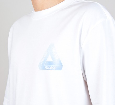 74486dc33f28 Palace Tri-Blue Pink Hyper T-Shirt (White) - Consortium