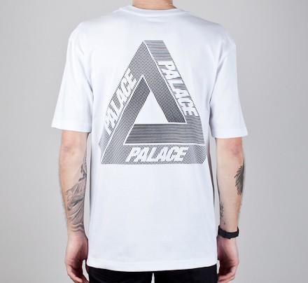 a2c40897 Palace Tri-Line T-Shirt (White) - Consortium.
