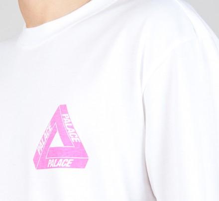 83b4a8911801 Palace Tri-Pink Blue Hyper T-Shirt (White) - Consortium
