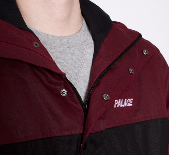 00c116c6f Palace Shower Jacket (Burgundy/Black) - Consortium.
