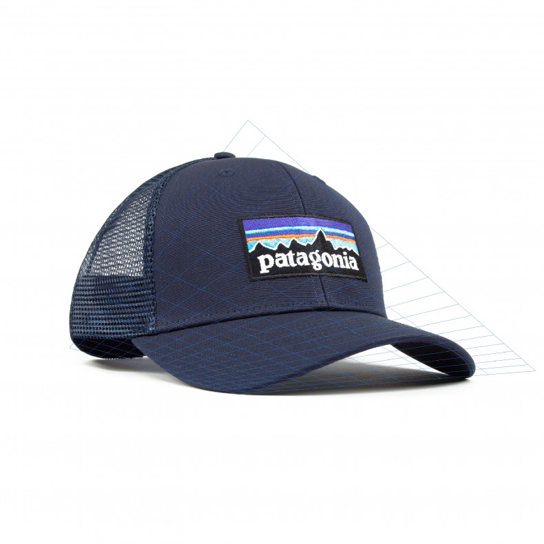 2b0984eb Patagonia P-6 Logo Trucker Cap (Navy Blue w/Navy Blue) - Consortium.