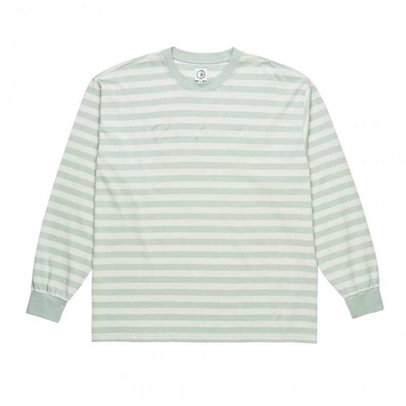 f6883d0e Polar Signature Long Sleeve T-Shirt (Stone Blue) - Consortium.