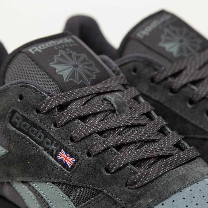 f455fb7465e07 Reebok Classic Leather NP (Coal Alloy Black White) - Consortium.