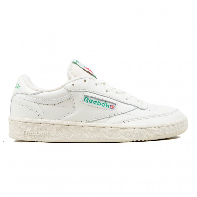 dfee67b8dc00 Reebok Club C 85 Vintage (Chalk Paperwhite Glen Green Excellent Red) -  Consortium.