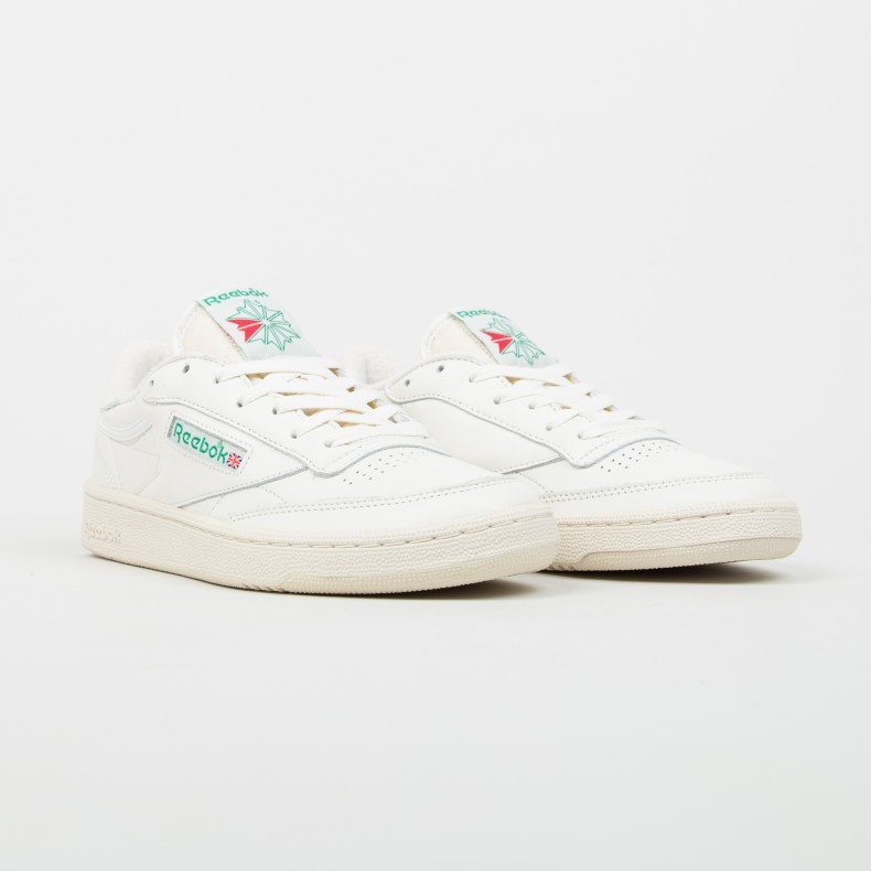 fa8fd6466544 Reebok Club C 85 Vintage (Chalk Paperwhite Glen Green Excellent Red ...