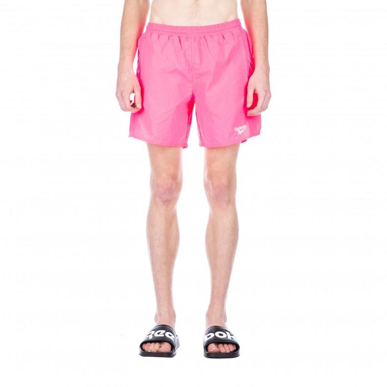 0ce0fab3fd Reebok Retro Woven Shorts (Acid Pink)