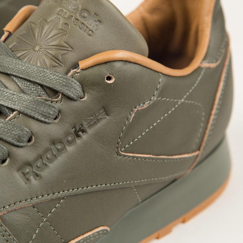 dc67db7f3f4 Reebok x Kendrick Lamar Classic Leather Lux (Olive Night-Gum ...