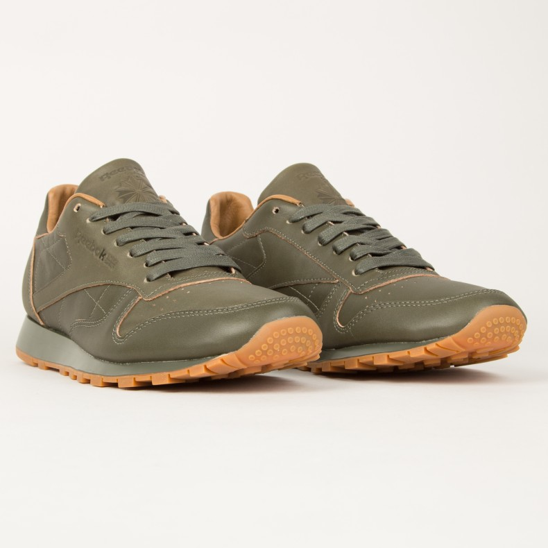 b47be222f7b Reebok x Kendrick Lamar Classic Leather Lux (Olive Night-Gum ...