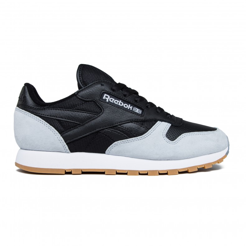 Reebok x Kendrick Lamar Classic Leather  Perfect Split  (Black Cloud Grey- Gum) - Consortium. 56a25812f