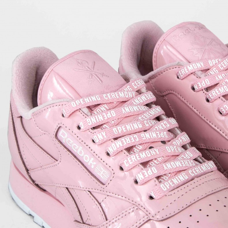 cdf24bc52 Reebok x Opening Ceremony Classic Leather (Pink Glow/White ...