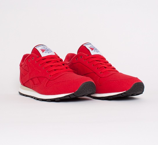 reebok shoes classic red. reebok classic lux textile shoes red