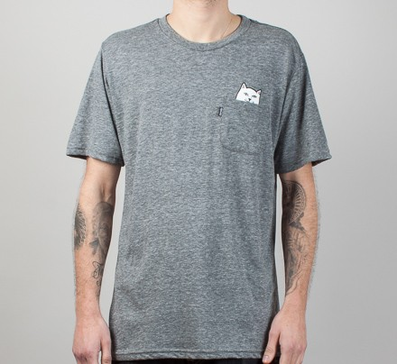 beb73f8c4 Rip N Dip Lord Nermal Front Pocket T-Shirt (Grey) - Consortium