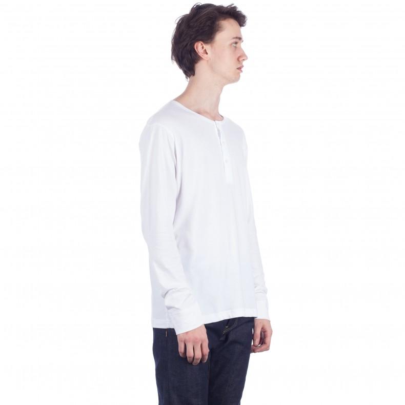 Sunspel Henley Undershirt 3 button front LONG SLEEVE